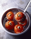 cheese stuffed tomatoes,steamed