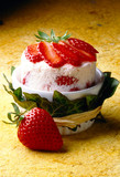 strawberry iced soufflé