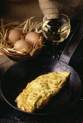 omelette and white wine
