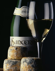 goat's cheese and Sancerre