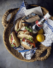 Greek picnic basket