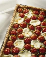 Tomato and mozarella savoury tart