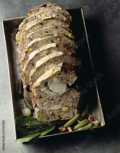 Sliced rabbit paté