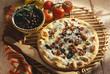 Gorgonzola and mozzarella pizza