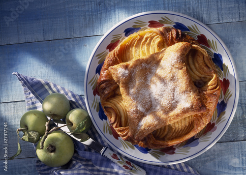 Breton Kouign amman with caramelized apples