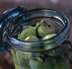 Jar of green figs