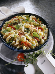 Torsade pasta with vegetables