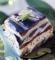 Sardine and fromage blanc terrine