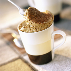 coffee and cardamom soufflé