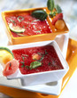 Watermelon,basil and lime soup