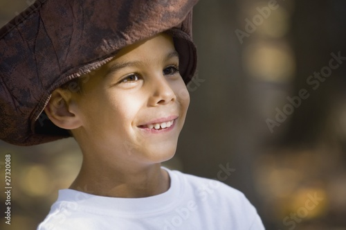 Boy Wearing A Pirate Hat