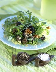 Walnut and snail salad