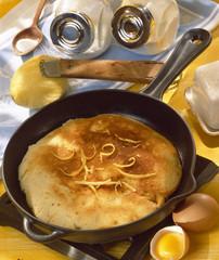 Orange and lemon flavoured pancakes