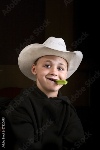 Boy Eating A Celery Stick