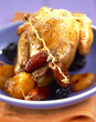 Young pigeon with dried fruit