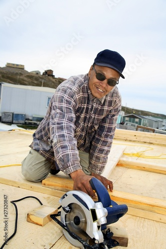 Inuit Construction Worker