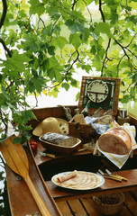 picnic on boat