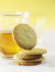 Tea and green tea shortbreads
