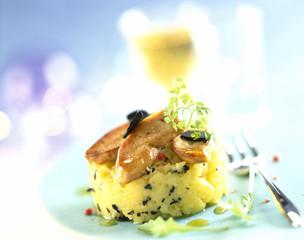 Foie gras Parmentier