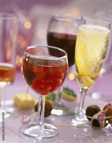 Assorted aperitif cocktails