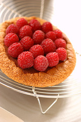 mini raspberry tart