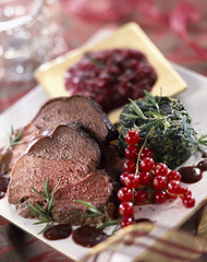 Wild boar fillets with redcurrants