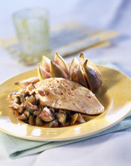 chicken breast with figs