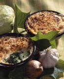 Spinach and bechamel gratin
