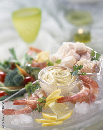 seafood appetizers with mayonnaise