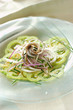 green tomato and marinated anchovy salad