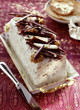 ice cream, chocolate and nougat log