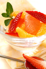 citrus fruit and strawberry salad