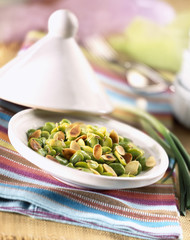 broad bean salad with caraway and grilled almonds
