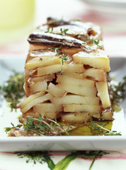 Pressed potatoes with thyme from the island of Ré