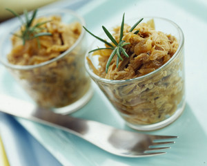 young rabbit marmalade with brown sugar caramelized onions