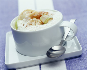 Langoustine cappucino with urchins