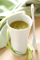 chervil cream soup