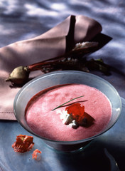 Iced beetroot velouté