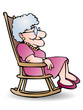 grandmother sit on shaky chair