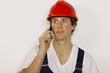 Worker On The Phone