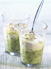 kiwi, passion fruit and banana soup