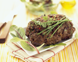 Herb and onion minced meat loaf