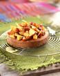 Peach and lemon tartlet