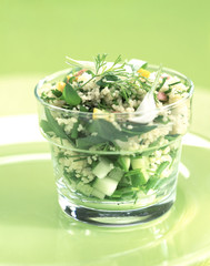 taboule-style, couscous semolina with herbs