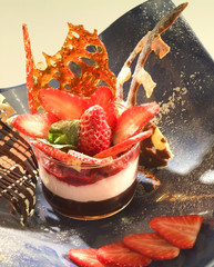 Mascarpone,strawberry and chocolate mousse