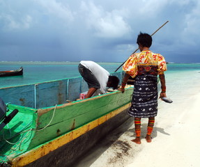 Tribu Kuna, Archipel des îles San Blas, Panamá