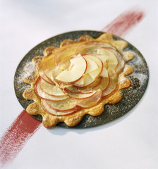apple chaudfroid with hazelnut oil