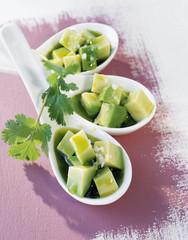 avocado with pistachio oil