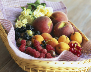Selection of summer fruits