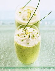 iced courgette soup
